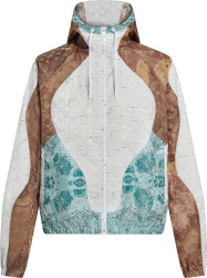 Louis Vuitton White Brown And Blue Marble Monogram Windbreaker Jacket 1a976d