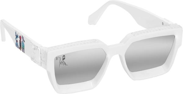 Louis Vuitton White Cartoons Matte Square Sunglasses
