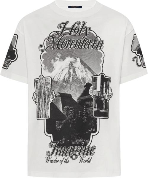 Louis Vuitton White Holy Mountain Print T Shirt
