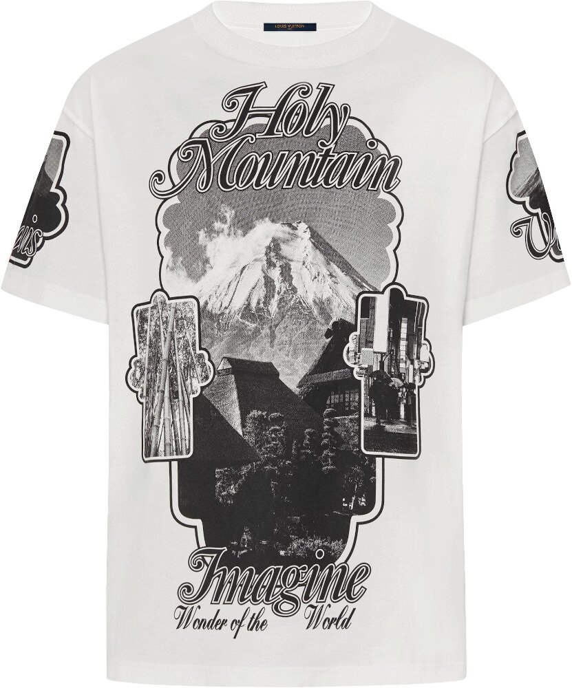 'Holy Mountain' Print White T-Shirt