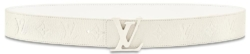 White 'LV Initiales' Leather Belt