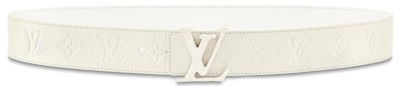 Louis Vuitton White Leather Belt