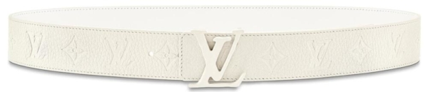 Louis Vuitton White Leather Belt