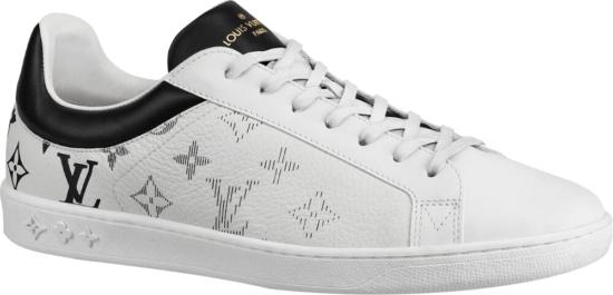 Louis Vuitton White Luxemborgh Sneakers