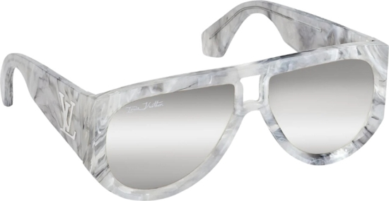 Louis Vuitton White Marble Selby Sunglasses