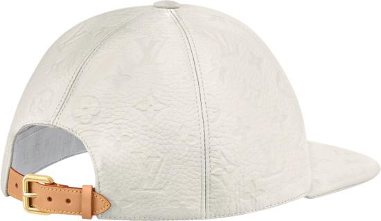 Louis Vuitton White Monogram Embossed Lv Friends Hat
