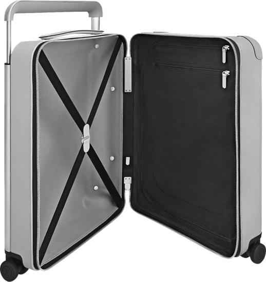 Louis Vuitton White Monogram Horizon 55 Rolling Hard Luggage