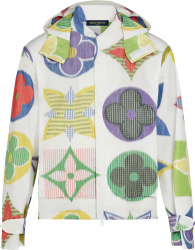 Louis Vuitton White Multicolor Monogram Windbreaker 1a7xjs