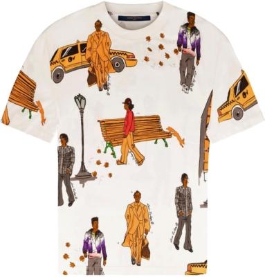 Louis Vuitton White New Walkers T Shirt
