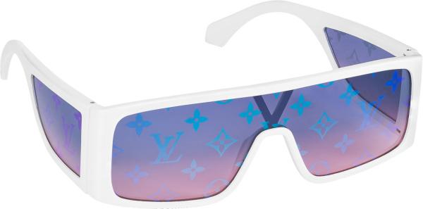 Louis Vuitton Whtie And Blue Gradient Logo Lens Sunglasses