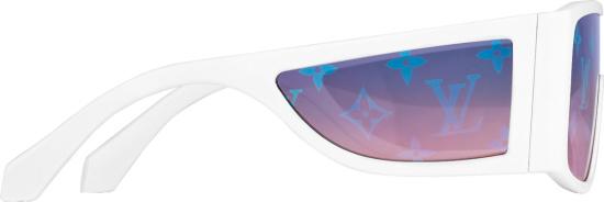 Louis Vuitton Whtie Sideways Sunglasses
