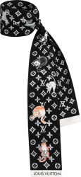 Louis Vuitton X Grace Coddington Black Catogram Bandeau