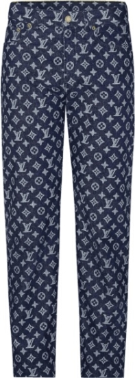 Louis Vuitton X Kim Jones Monogram Print Jeans