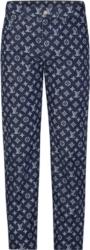 Louis Vuitton X Kim Jones Monogram Print Jeans