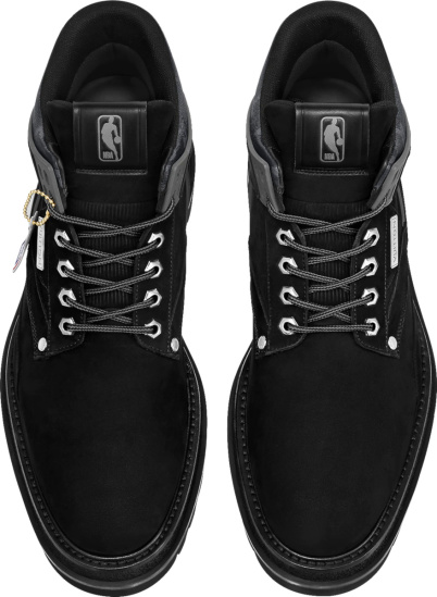 Louis Vuitton X Nba Black Suede Ankle Boots