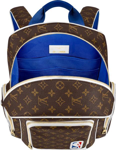 Louis Vuitton X Nba Brown Monogram Nba Logo Patch Backpack