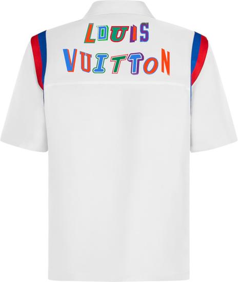 Louis Vuitton X Nba White Basketball Warm Up Shirt