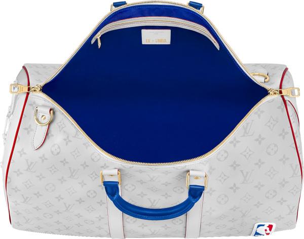 Louis Vuitton X Nba White Monogram Duffle Bag