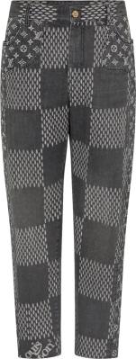 Louis Vuitton X Nigo Black Giant Monogram Jeans