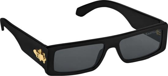 Louis Vuitton X Nigo Black Sunglasses