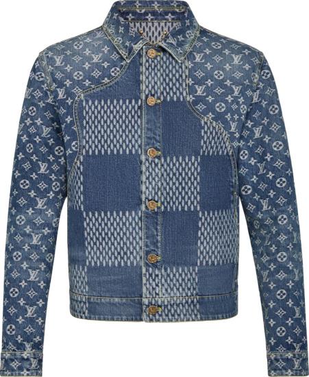 Louis Vuitton X Nigo Blue Giant Waves Denim Jacket 1a7yd6