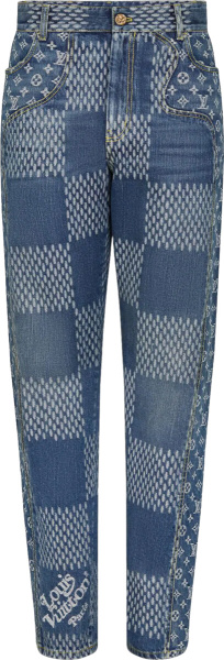 Louis Vuitton X Nigo Blue Giant Waves Jeans 1a7ydn