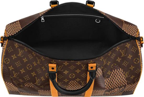 Louis Vuitton X Nigo Brown Check Duffle Bag