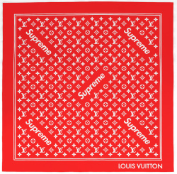 Louis Vuitton X Supreme Red Bandana