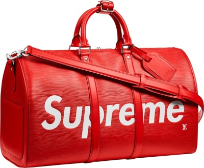Louis Vuitton X Supreme Red Duffle Bag