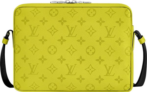 Louis Vuitton Yellow Taigarama Outdoor Messenger Bumbag