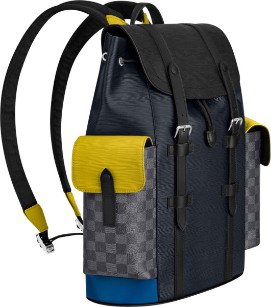Louis Vutton Multicolor Navy Backpack