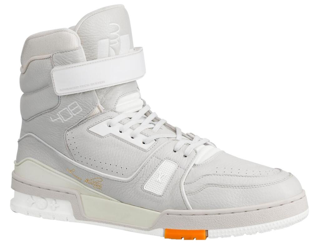 Lousi Vuitton Grey High Top Sneaker Boot