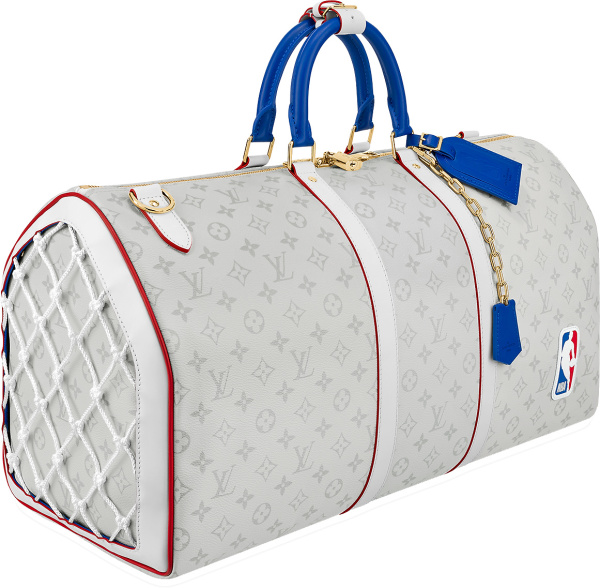 Lvxnba White Monogram Keepall 55 Duffle Bag