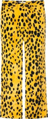 Mademe Yellow Dalmation Fur Pants