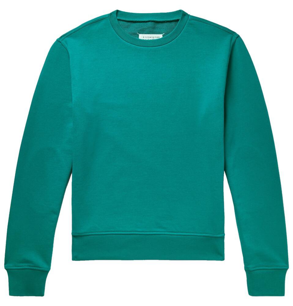 Maison Margiea Teal Tourquoise Cotton Sweatshirt
