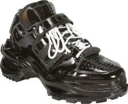 Maison Margiela Black Patent Leather Retrofit Sneakers