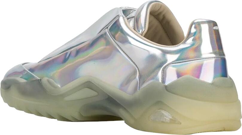 Maison Margiela Metallic Sneakers With A Oblique Sole