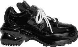 Maison Margiela Patent Black Retro Fit Sneakers