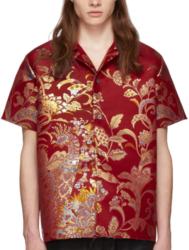 Maison Margiela Red Kimono Style Shirt Worn By Gunna