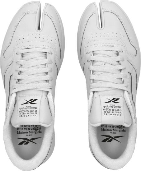 Maison Margiela X Reebok White Leather Toe Sneakers