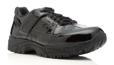 Maison Margiels Black Patent Leather Sneakers Worn By Offset