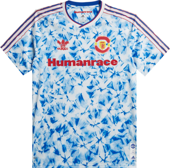 Manchester United Blue White Tie Dye Human Race Jersey