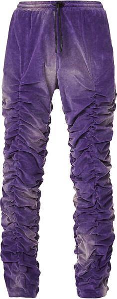 Marc Jacquees Burton Purple Velour Pants