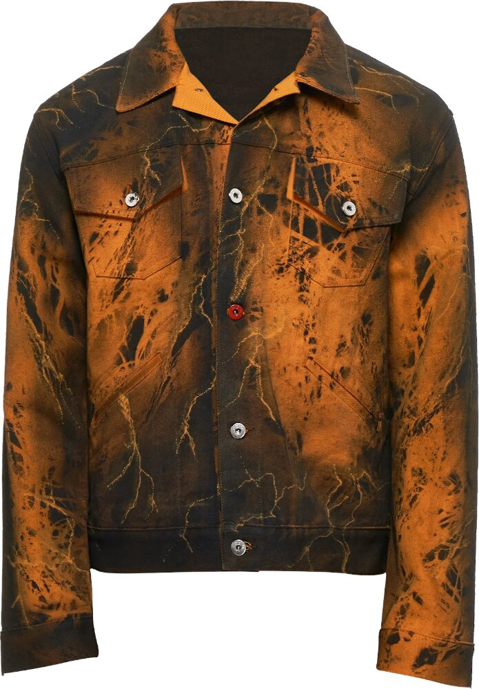 Marc Jacques Burton Orange Black Jacket