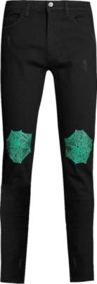 Marc Jacques Burton Spider Web Print Black Jeans