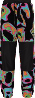 Marcelo Burlon Black And Neon Abstract Print Fleece Joggers