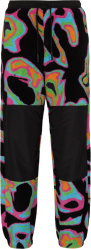 Black & Neon Abstract Print Joggers