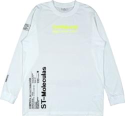 Confidential Print White Long Sleeve Shirt