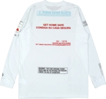 Confidential Print White Long Sleeve Shirt