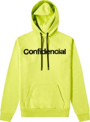 Marcelo Burlon Yellow Confidential Hoodie